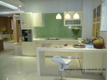PVC/vinyl kitchen cabinet(LH-PV084)(China)