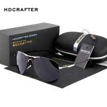 HDCRAFTER Brand Designer Polarized Sunglasses Man Cool Sun Glasses Men UV400 Protection Goggle Eyewear Accessories For Men(China)