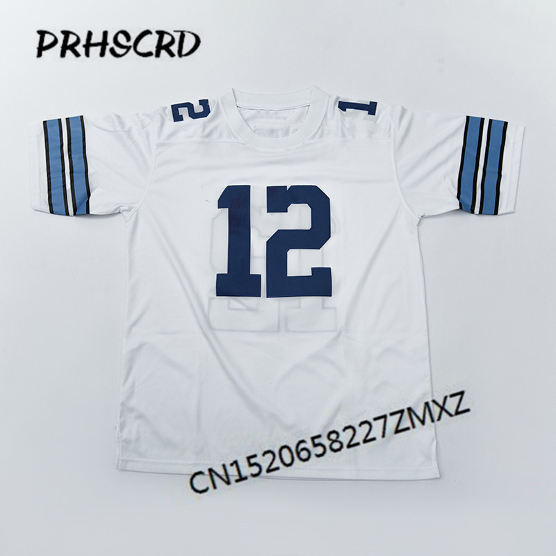 Retro star #12 Roger Staubach Embroidered Throwback Football Jersey(China)