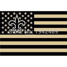 New Orleans Saints flag USA stripe star  banner 100D  3X5FT  free shipping