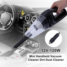 Portable Low Noise 12V-120W Auto Car Mini Handheld Vacuum Cleaner Dirt Dust Cleaner Collector Cleaning Appliances(China)