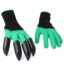 Fresh Garden GENIE Gloves For Digging&Planting w/ 4 ABS Plastic Claws Gardening(China)