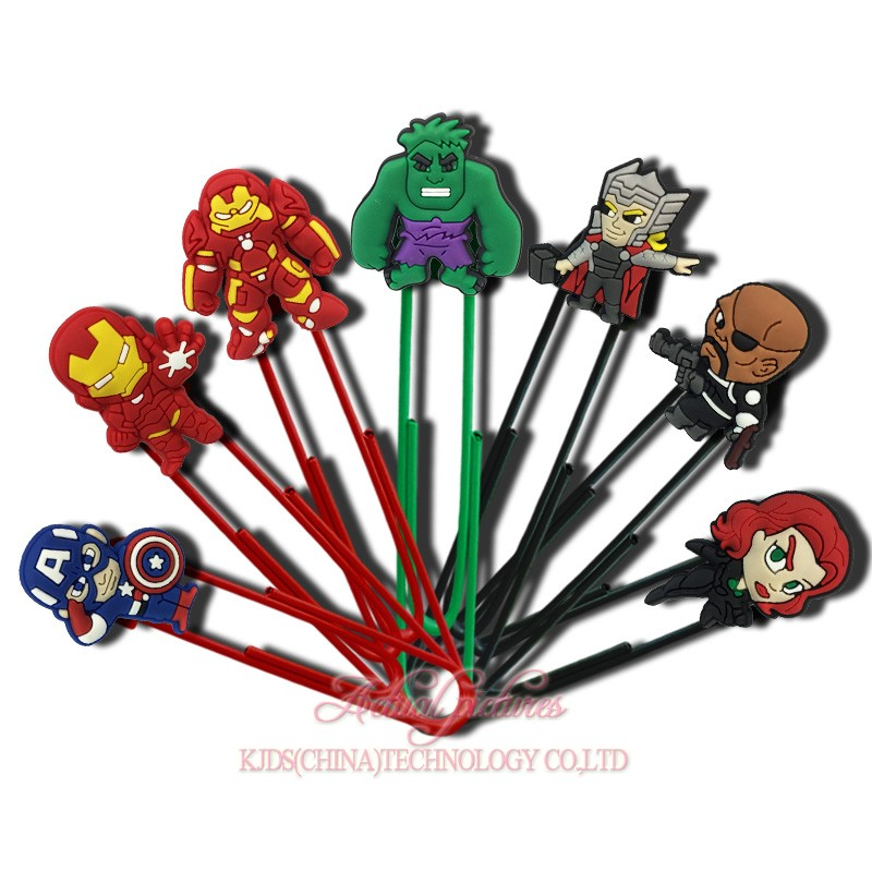 7-12pcs Super Hero The Avengers Paper Clip Bookmark School/Office Supplies Stationery Promotional Jewelry Findings Kid Gifts(China)