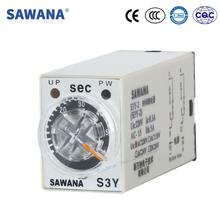 timer relay AC48V 36V S3Y-2 60s time relay with socket base SPDT self resetting 8 pins 5S 10S 30S 60S 3M 6M 10M 30M 60M(China)