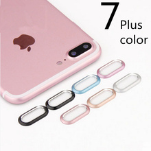 For apple iphone 7 plus 5.5inch Camera Lens Ring Circle Protect Metal Phone Case Cover Protector Hoop Guard Circle Case Cover