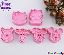 Free Shipping 3sets mickey Winnie hello kitty cookie cutters mold
