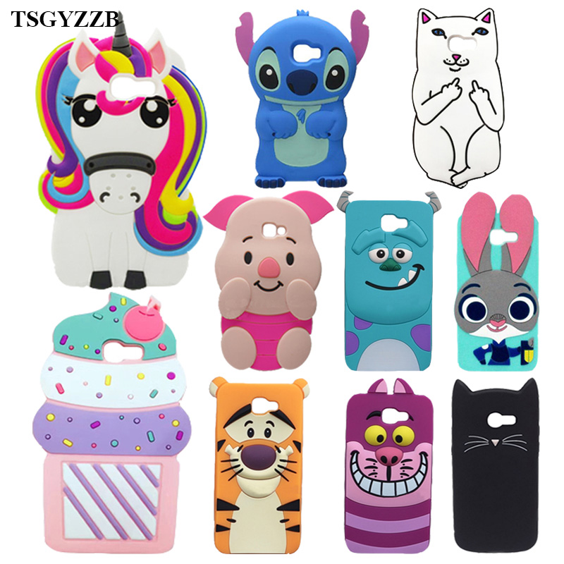 Cute Cartoon 3D Minnie Capa Case Samsung Galaxy A3 2017 Coque A320 A5 2017 A520 A7 2017 A720 Silicone Soft Phone Back Cover