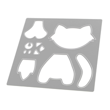 Cute Jigsaw Puzzle Dog Metal Cutting Dies DIY Metal Stencils Embossing Folder for Scrapbooking Frame Album Decorative Dies