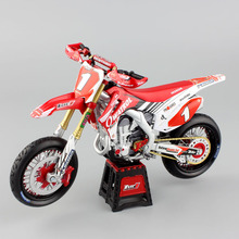1:12 mini scale HONDA Motocross HRC OWATROL CRF450R CRF450 SUPERMOTO LUC1 Motorcycle Diecast model racing sport dirt bike toys(China)