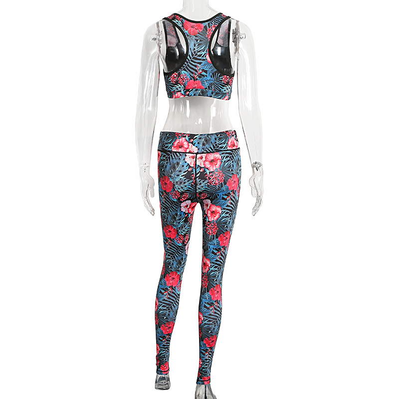 2017 Print Tracksuit, Crop Top And Leggings, Sporting Clothes 10