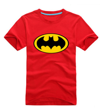 Free Shipping Mens 9 Colors Options Fashion Batman Print Short Tees Black Red Blue Yellow White Grey Batmen T Shirt