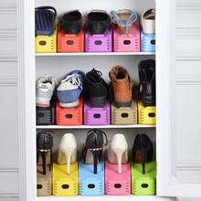 1pc New Popular Shoe Racks Modern Double Cleaning Storage Shoes Rack Living Room Convenient Shoebox Shoes Organizer Stand Shelf(China)