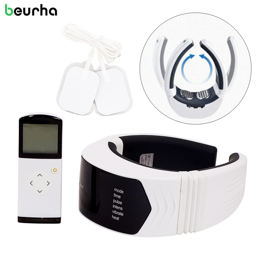 Beurha Neck Massager Cervical Vertebra Therapy Relax Muscle Relief Wireless Remote Control Accupuncture Vibration Massage Beurha<br>
