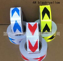 5x300cm Aveolate arrow Reflective Tape Sticker Safe Warning sign Car construction road symbol Crash Guard etc Wholesale