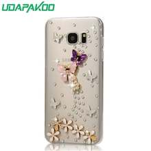 HOT 3D Luxury Bling Crystal Diamond Hard DIY Case for Samsung Galaxy C9 Pro C9000/A7 2016/A5 2016/S7 G9300/S7 Edge/A3 2016