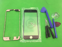 "LCD Frame Bezel + Front Outer Touch Screen Glass Lens Replacement Panel For iPhone 6s 4.7 ""+ Tools"