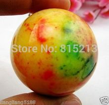 ddh00915 Hot Sell Asian Quartz 3 Colors Jade Crystal Healing Ball Sphere 50MM+Stand