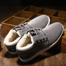 Autumn Winter Men's Shoes Lace Up Leisure Style Anti Slippery Flats Shoes Plus Wool Fleeces Warm Shoes RD400045(China)