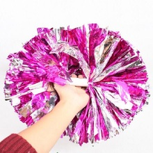 Game Cheerleader Cheerleading Pom Poms Cheerleading Pompoms Cheer Pom Majorettes Hand Flower Aerobics Balls Sports Items 150g(China)