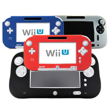 4 Colors Ultra Soft Silicone Rubber Case For Wii U Body Protector Gel Cover Skin Shell for Nintendo WiiU Gamepad Accessories