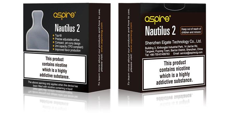 E cigarette Aspire Nautilus 2 MTL Atomizer Electronic Cigarette Tank with Nautilus 0.7 ohm 1.8ohm BVC Coils Vape Tank Vaporizer 7