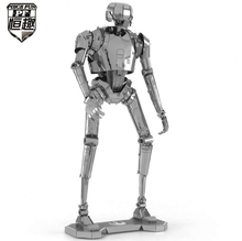 Free Shipping Piecefun 3D Metal Puzzle Star Wars K-2SO Robot Model Laser Cutting Miniature Model DIY Jigsaws Intelligence Toys(China)