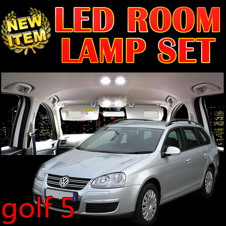 Cheetah 6 X free ship Error Free Car LED Vehicle Interior Map Dome Door Lights Bright Kit Package for vw golf 5 accessories<br><br>Aliexpress