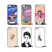 For iPod Touch iPhone 4 4S 5 5S 5C SE 6 6S 7 Plus Samung Galaxy A3 A5 J3 J5 J7 2016 2017 Justin Bieber art portrait Music Cover(China)