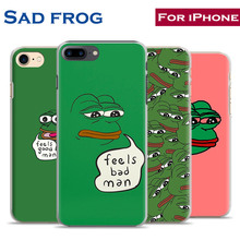 Sad Frog Feels Bad Man Fashion Cute Mobile Phone Case Cover For Apple iPhone X 8Plus 8 7Plus 7 6sPlus 6s 6Plus 6 5 5S SE 4S 4(China)