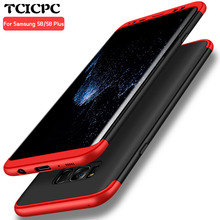 For Samsung galaxy S8 case S8 plus case cover TCICPC Hard PC 3 in 1 360 Full Protect ultra thin Back Cover for Galaxy S8 S8 plus