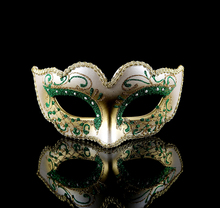 (1 piece/lot)  New 4 colors available glittered pulp Venetian masquerade party masks Princess mask