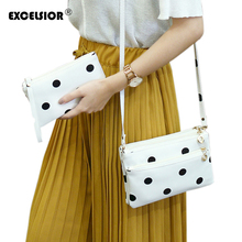 EXCELSIOR 2016 New PU Leather Dots Pattern Soft Face Women Shoulder Bags Ladies Envelope Clutch Crossbody Bag Bolsas Sac A Main