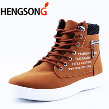 Buy 2018 Spring Shoes Men Sneakers High Top Suede Leather Walking Shoes Lace-Up High Pipe Men Sports Shoes Zip Big Size 46 for $14.38 in AliExpress store