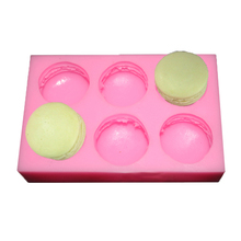 Hand-made 6 with Hamburg Macaron Soap mold Silicone soap mold Mid-Autumn Festival moon cake production Silicone Cake
