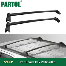 Partol Black Car Roof Rack Cross Bars Roof Luggage Carrier Roof Rail 60KG/132LBS For Honda CRV 2002 2003 2004 2005 2006(China)