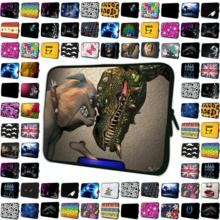 Ferocious Dinosaurs and Dog 17 15 10 13 12 14 7 inch Boys Durable Sleeve Netbook Bags 9.7 8.0 11.6 12.2 inch Zipper Laptop Cases