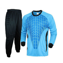 Football doorkeepers jersey long-sleeve top trousers male goalkeeper football jersey goalkeeper clothing soccer shirt sets
