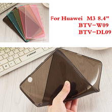 Soft Silicone Tablet Case For Huawei Mediapad M3 BTV-W09 BTV-DL09 Gel Matte TPU Cover Colorful Ultra-thin Back Shell Film Gift