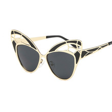 Free brand designer transportation cat eye sunglasses women hot selling metal sunglasses uv400