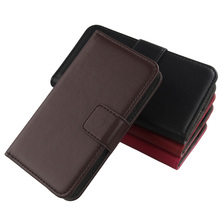 Exyuan 4 Color Book Style Genuine Leather Cover Smartphone Flip Case For Blackberry Q5(China)