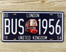 "15x30cm Tin Signs License Plates "" BUS 1956   "" Wall Sticker Decor Iron Retro Tin Signs Plaques Mural XD-1238 wall pictures"