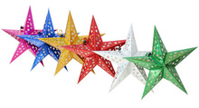 10 Pcs/Set 45CM Exquisite Glitter Christmas Stars Xmas Room Hanging Ornament Market School Themed Party Christmas Decor Supplies