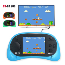 "New 2018 8 Bit 2.5"" handheld game console Built-in 260 Different Games Video Game Console TV output Children Christmas gift(China)"