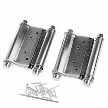 "2Pcs Durable 3"" Inch Double Action Spring Hinge Saloon Cafe Door Swing#L057# new hot"