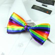 2017 butterflies butterfly bowknot bow tie knot bowtie men's necktie striped neck ties polyester ascot(China)