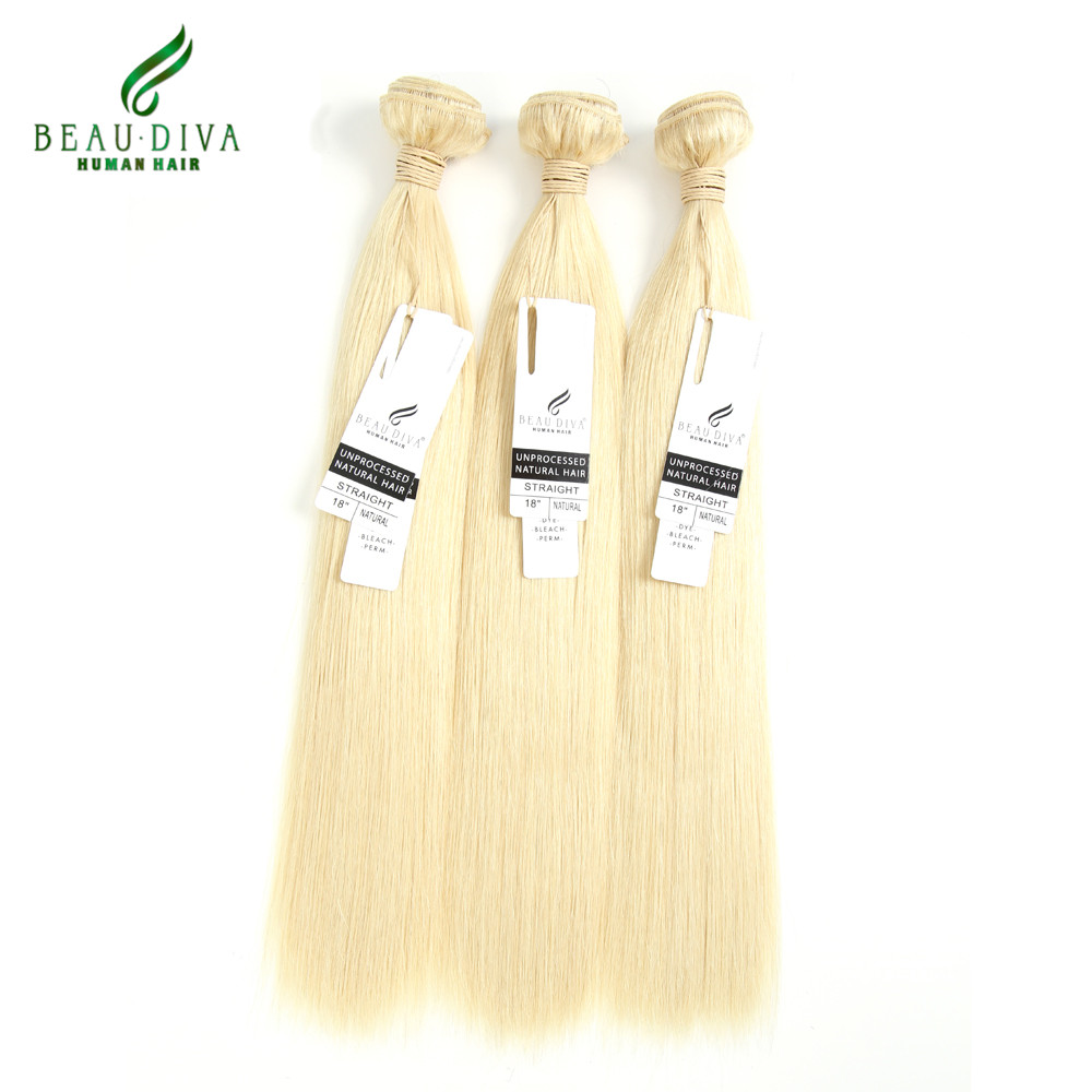 613 Blonde Brazilian Virgin Hair Straight 3 bundles 7A Grade unprocessed Virgin Human Hair Blonde Brazilian Straight Hair Weave<br><br>Aliexpress