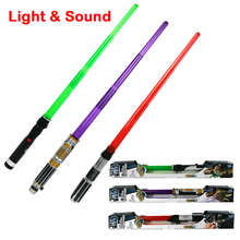 84cm Foldable Star Wars laser sword with Sound and Light classic Star Wars lightsaber toy for kid Jedi scalable weapons gift(China)