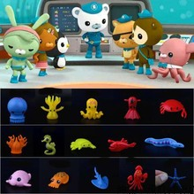 20 Style Octonauts marine Ocean animals figures toy  3-5cm octopus starfish squid coral kids toys gift for child collectible
