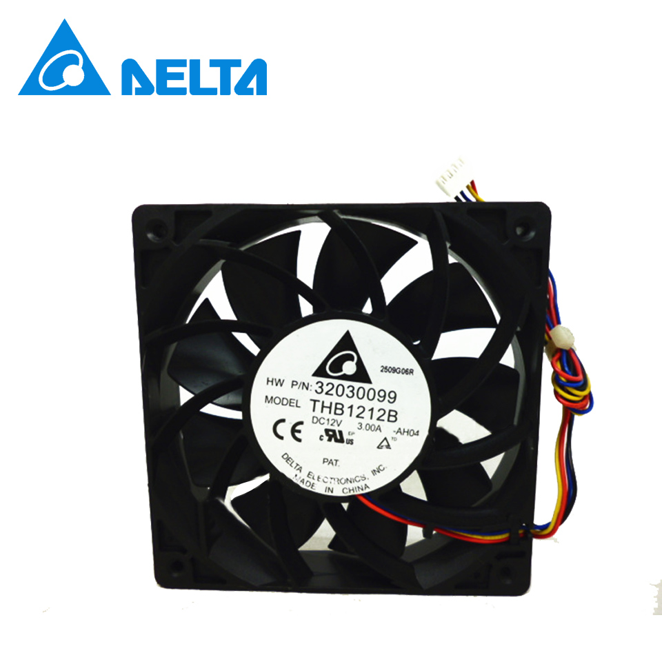 Delta New 12CM 12025 high- speed winds of fan 12V 3A THB1212B double ball 120*120*25mm<br>