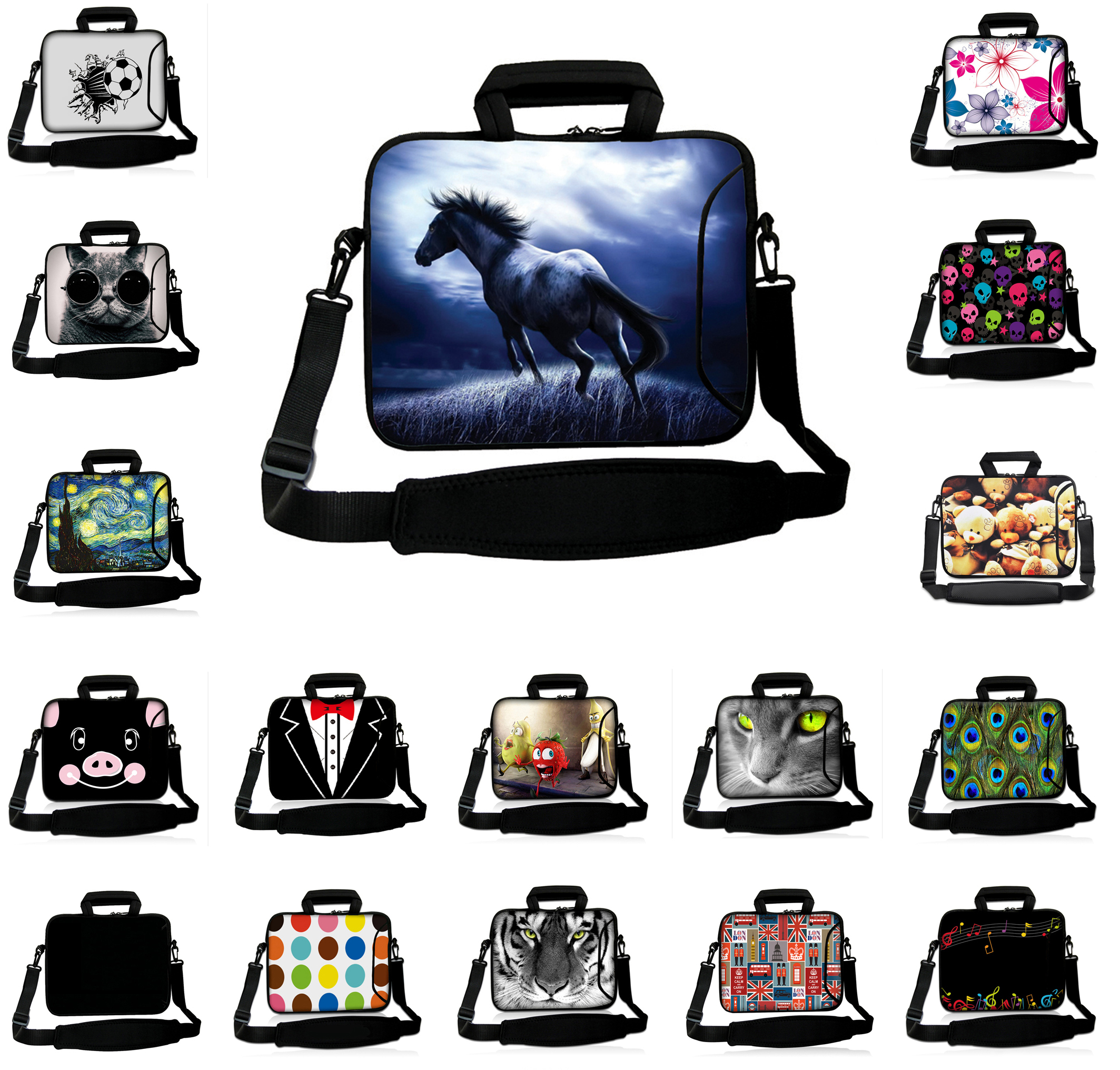 Run Horse 15.6 15 inch Mesns Laptop Messenger Bags 15.3 15.4 inch Shoulder Strap Tablet Notebook Pouch Cove Cases For Asus Dell<br><br>Aliexpress